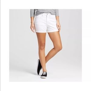 Mossimo White Denim Shorts Midi size 12/31